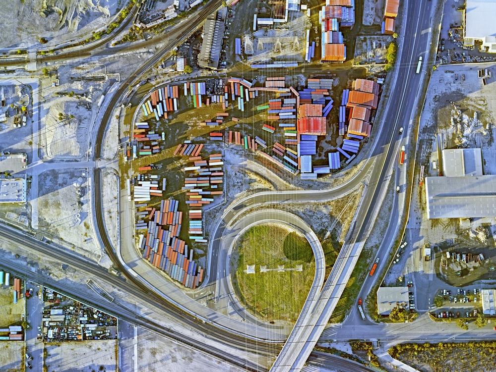 "Jeffrey Milstein<br /> <em>Container Port 20, </em>2014<br /> Archival pigment prints<br /> 30 x 40""  Edition of 10<br /> 40.5 x 54""  Edition of 10"