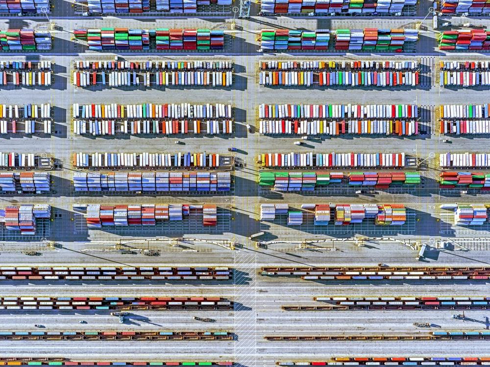 "Jeffrey Milstein<br /> <em>Container Port 29, </em>2014<br /> Archival pigment prints<br /> 30 x 40""  Edition of 10<br /> 40.5 x 54""  Edition of 10"