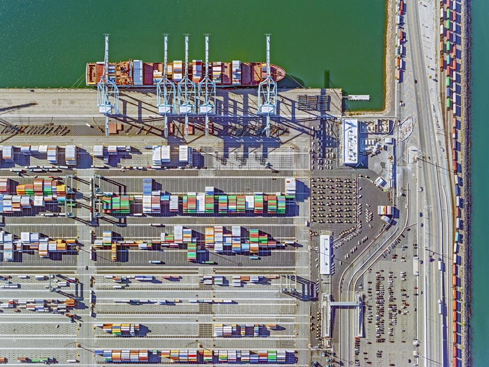 "Jeffrey Milstein<br /> <em>Container Port 32, </em>2014<br /> Archival pigment prints<br /> 30 x 40""  Edition of 10<br /> 40.5 x 54""  Edition of 10"