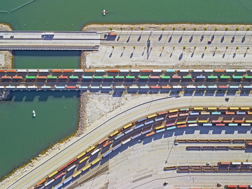 "Jeffrey Milstein<br /> <em>Container Port 34, </em>2014<br /> Archival pigment prints<br /> 30 x 40""  Edition of 10<br /> 40.5 x 54""  Edition of 10"