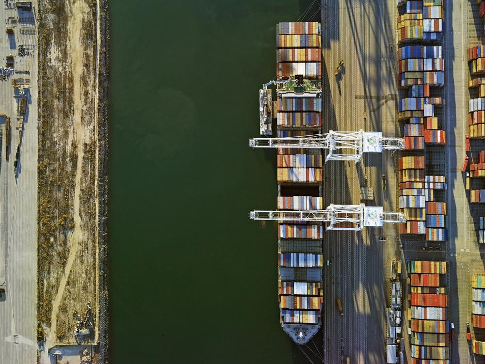 "Jeffrey Milstein<br /> <em>Container Port 39, </em>2014<br /> Archival pigment prints<br /> 30 x 40""  Edition of 10<br /> 40.5 x 54""  Edition of 10"