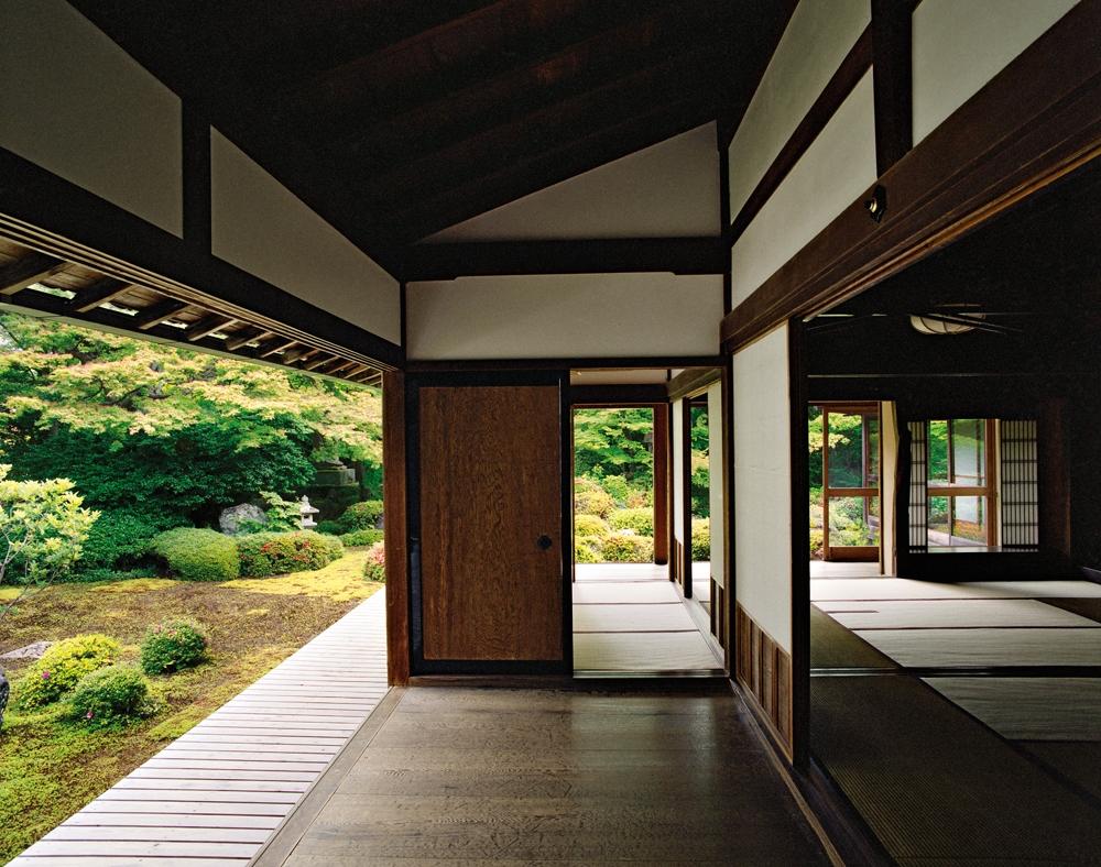 "Jacqueline Hassink<br /> <em>Genkō-an 5,Northwest Kyoto,9 June 2009 (8:00–9:00)</em><br /> Chromogenic prints<br />41 x 51"", 50 x 63"", and63 x 79"" Shared edition of 7<br />"
