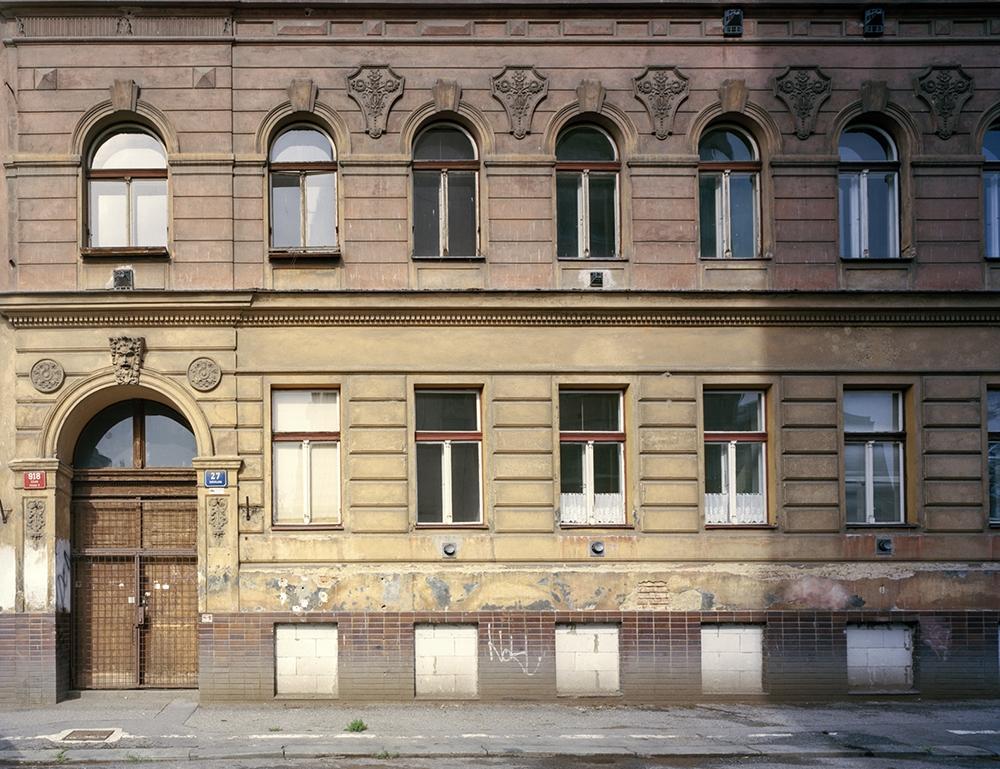 Doug Hall<br /> <em>K's Walk: The Hermann Asbestos Works, Bořivojova 27, Žižkov, Prague</em>, 2016<br /> 30 x 38 inch chromogenic print<br /> Edition of 6