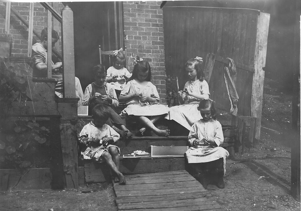Lewis Hine<br /> <i>Highland Street, Roxbury, MA, C.</i>1911<br /> Silver gelatin print<br /> 4 1/2 x 6 3/8 inches (unique)