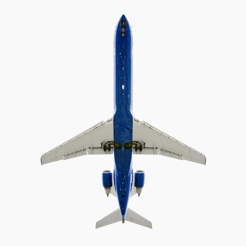 """Jeffrey Milstein<br /> <em>Skywest Airlines Canadair CL - 600,</em>2005<br /> Archival pigment prints<br /> 20 x 20""""  Edition of 15<br /> 34 x 34""""  Edition of 10<br /> Some Aircraft images can be up to 40 x 40"""""""