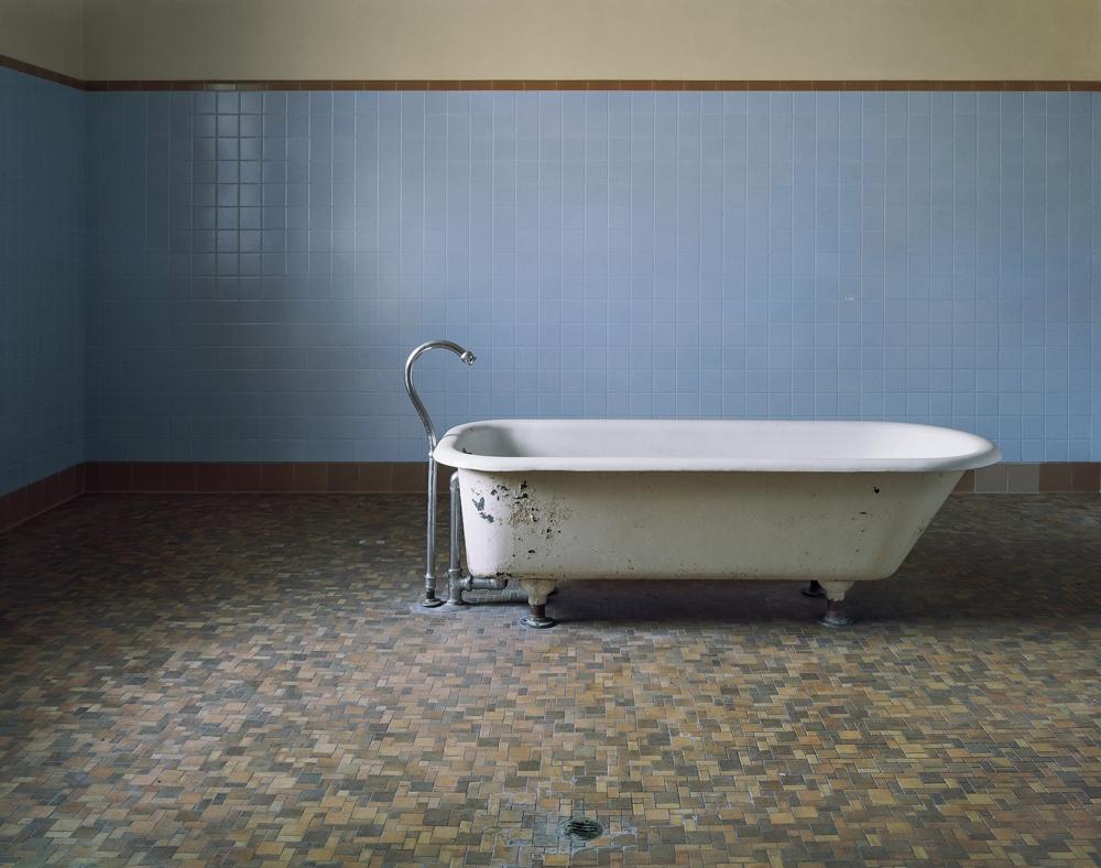 "Christopher Payne<br /> <em>Patient Bathtub, Fairfield State Hospital, Newtown, CT</em>, 2003<br /> Digital chromogenic print<br /> 20 x 24""  Edition of 10<br /> 40 x 50""  Edition of 8<br /> 50 x 60""  Edition of 5"