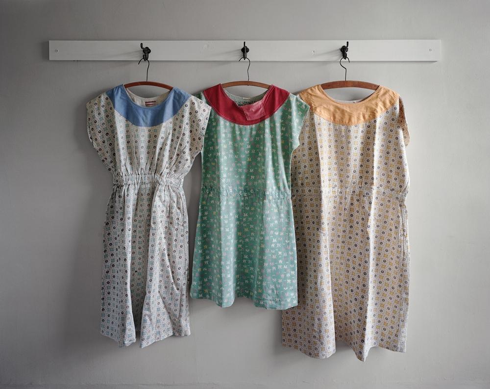 "Christopher Payne<br /> <em>Patient Dresses Made at Clarinda State Hospital, Clarinda, IA</em>, 2008<br /> Digital chromogenic print<br /> 20 x 24""  Edition of 10<br /> 40 x 50""  Edition of 8<br /> 50 x 60""  Edition of 5"