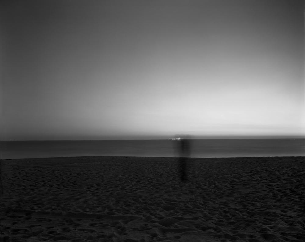 "Matthew Pillsbury<br /> <em>Cellphone on Venice Beach Sunday, September 24th, 2006, 6:58-7:09pm</em><br /> Archival pigment ink prints<br /> 13 x 19"" Edition of 20<br /> 30 x 40"" Edition of 10<br /> 50 x 60"" Edition of 3"