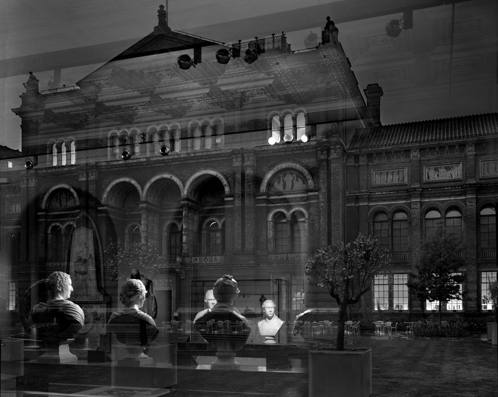"Matthew Pillsbury<br /> <em>Reflection, Victoria & Albert Museum, London, </em>2007<br /> Archival pigment ink prints<br /> 13 x 19"" Edition of 20<br /> 30 x 40"" Edition of 10<br /> 50 x 60"" Edition of 3"