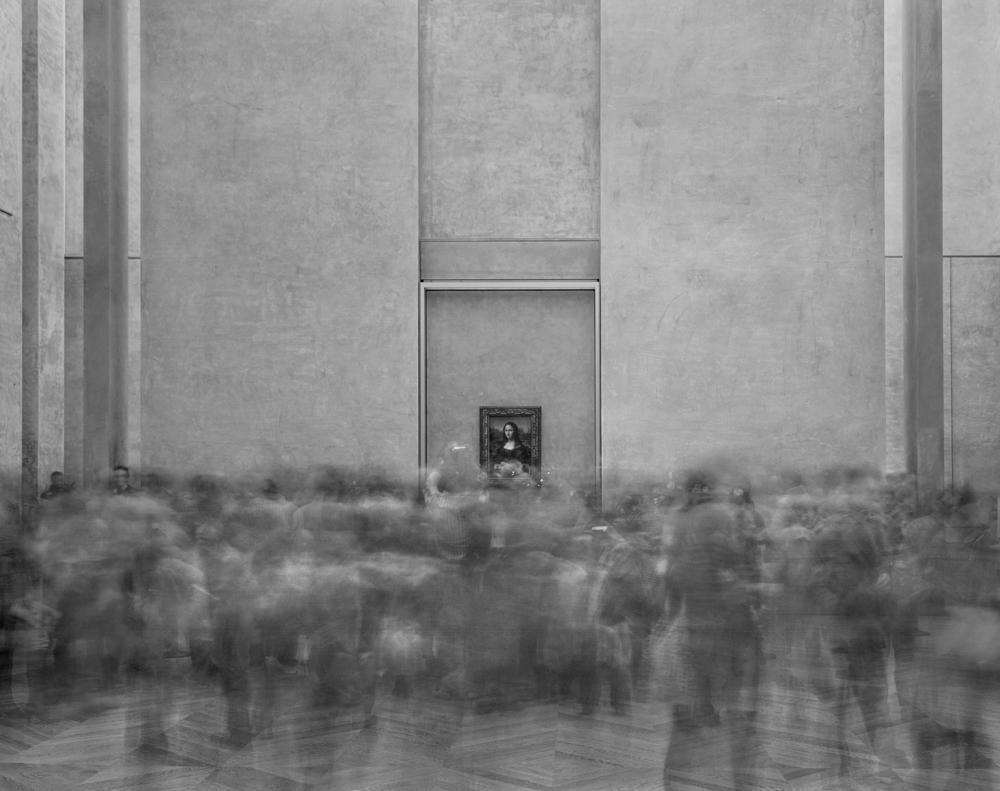 """Matthew Pillsbury<br /> <em>La Joconde, Salle des Etats, Le Louvre, </em>2008<br /> Archival pigment ink prints<br /> 13 x 19"""" Edition of 20<br /> 30 x 40"""" Edition of 10<br /> 50 x 60"""" Edition of 3"""
