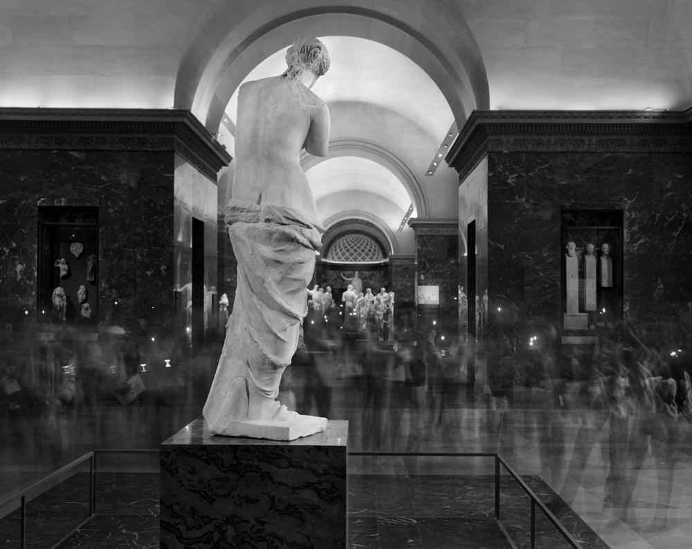 """Matthew Pillsbury<br /> <em>La Venus de Milo (backside), Le Louvre, </em>2010<br /> Archival pigment ink prints<br /> 13 x 19"""" Edition of 20<br /> 30 x 40"""" Edition of 10<br /> 50 x 60"""" Edition of 3"""
