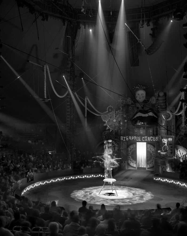"Matthew Pillsbury<br /> <em>Contortionist, Big Apple Circus, New York City, </em>2011<br /> Archival pigment ink prints<br /> 19 x 13"" Edition of 20<br /> 40 x 30"" Edition of 10<br /> 60 x 50"" Edition of 3"