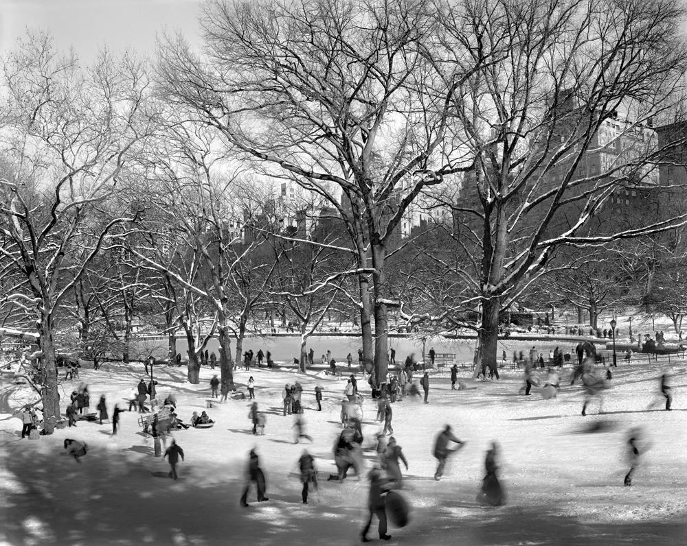 "Matthew Pillsbury<br /> <em>Pilgrim Hill, Central Park, February 9, 2013</em><br /> Archival pigment ink prints<br /> 13 x 19"" Edition of 20<br /> 30 x 40""  Edition of 10<br /> 50 x 60"" Edition of 3"
