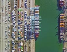 "Jeffrey Milstein<br /> <em>Container Port 36, </em>2014<br /> Archival pigment prints<br /> 30 x 40""  Edition of 10<br /> 40.5 x 54""  Edition of 10"