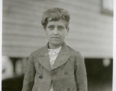 Lewis Hine<br /> <i>Jo Voal</i>, C.1910<br /> Silver gelatin print<br /> 6 3/4 x 4 5/8 inches (unique)